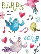 Birds song: Music notebook wide staff manuscript paper - 8.5x11 - 120 pages - 8 staves per page - easy to write on - perfect for l