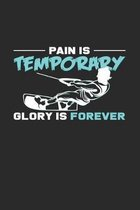 Pain is temporary gloy is forever: 6x9 Wakeboarding - grid - squared paper - notebook - notes