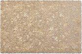 4x Rechthoekige gevlochten placemats glanzend goud 30 x 45 cm - Zeller - Keukenbenodigdheden - Tafeldecoratie - Borden onderzetters van kunststof