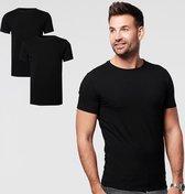 SKOT Fashion Duurzaam t-shirt heren round neck Black 2-pack - zwart