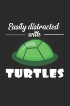 Distracted with turtles: 6x9 Turtle - grid - squared paper - notebook - notes