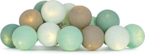 Cotton Ball Lights lichtslinger Mint 20 Lampjes Lus - Cotton Ball Lights