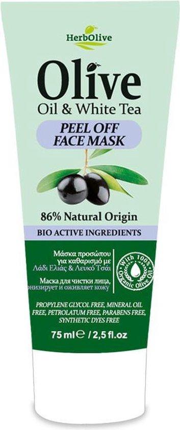 HerbOlive Peel-off Masker *Olijfolie & Witte Thee* 75ml