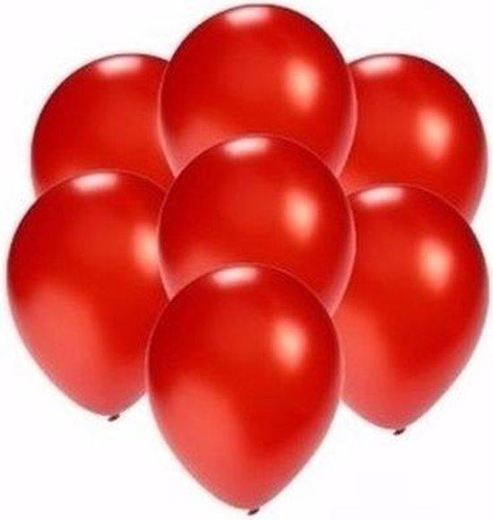 Kleine metallic rode ballonnen 100x stuks - Feestartikelen/Versiering