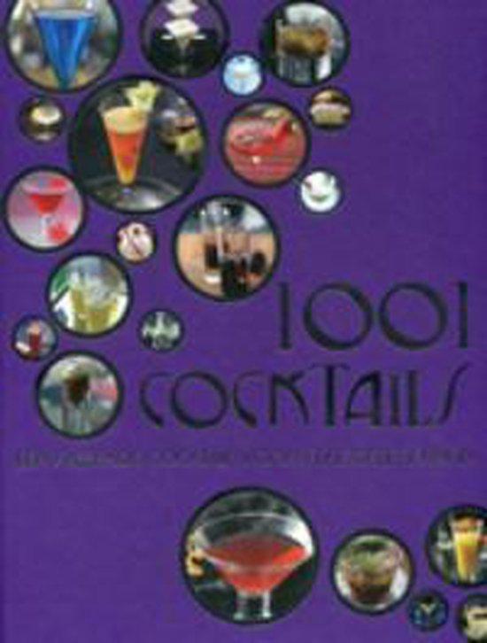Cover van het boek '1001 cocktails' van A. Barker