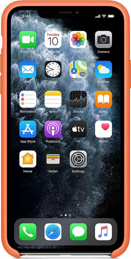 Apple Silicone Backcover iPhone 11 Pro Max hoesje - Vitamin C