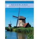 Comello Kalender Nederland 33 X 44 Cm Papier Blauw