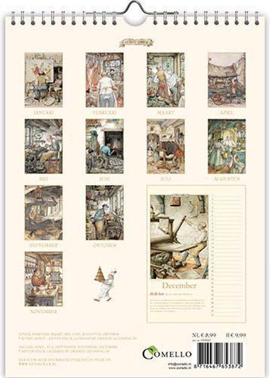 Anton Pieck Verjaardagskalender - Oude Ambachten (formaat A4)