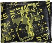 Pokémon Pikachu Manga All over Print Bifold Portemonnee - Officiële Merchandise - Zwart