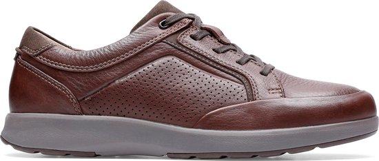 Clarks - Herenschoenen - Un Trail Form2 - G - mahogany leather - maat 8,5