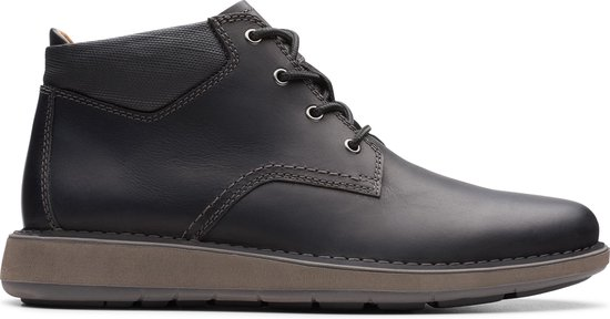 Clarks - Herenschoenen - Un Larvik Top2 - G - black leather - maat 8,5