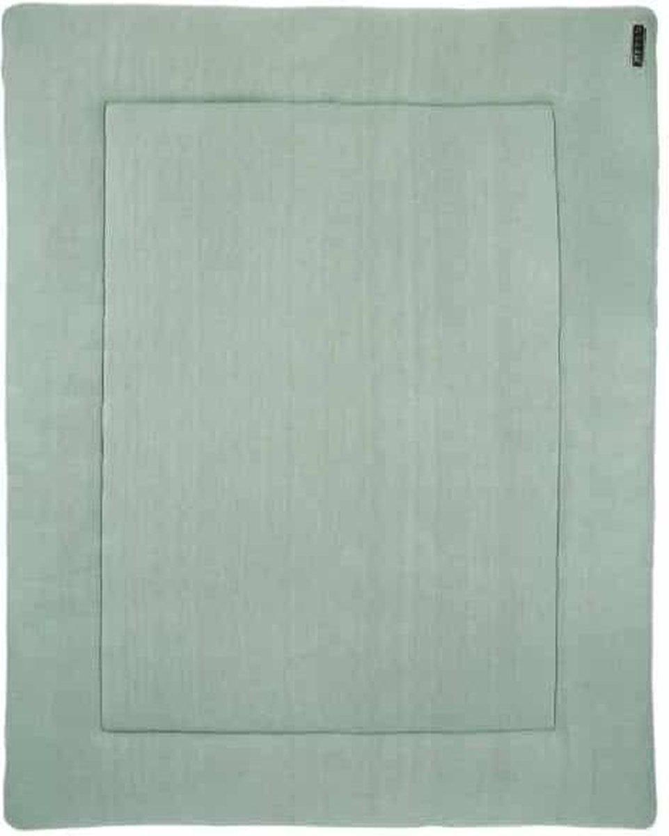Meyco Knit basic boxkleed - 77x97 cm - stone green