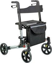 Weinberger Rollator lichtgewicht en opvouwbaar zilverkleurig geschikt voor binnen en buiten
