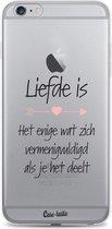 Apple iPhone 6 Plus / iPhone 6S Plus hoesje Liefde is Casetastic Smartphone Hoesje softcover case