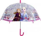 Chanos Paraplu Frozen 2 Meisjes 48 Cm Transparant/roze
