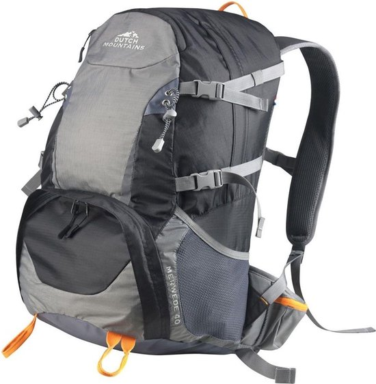 Dutch Mountains® 'Merwede' Backpack (2021 model) |Outdoor Wandel Rugzak | Regenhoes | Airflow Systeem | Hydratatie-opening | 40 Liter | Zwart