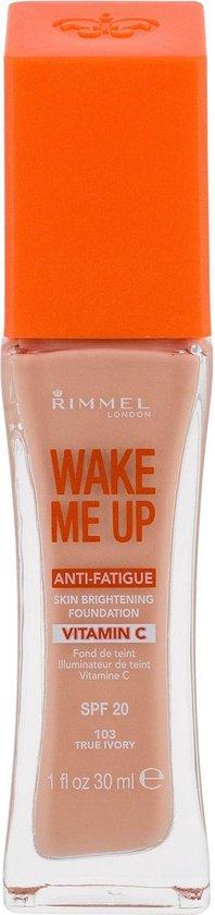 Rimmel Wake Me Up Foundation 103 True Ivory foundationmake-up Pompflacon Vloeistof 30 ml