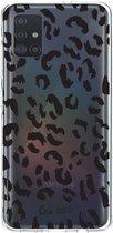 Samsung Galaxy A51 (2020) hoesje Leopard Print Black Casetastic Smartphone Hoesje softcover case