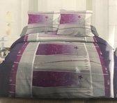 Microfiber - Dekbedovertrek Purple Stars - Lits Jumeaux - 240 x 220 cm + 2 Kussenslopen