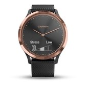 Garmin Vivomove HR - Hybride Smartwatch - 43 mm - Roségoud/zwart