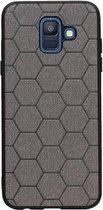 Wicked Narwal | Hexagon Hard Case voor Samsung Samsung Galaxy A6 2018 Grijs