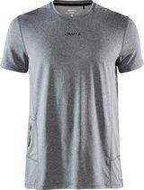 Craft Adv Essence Ss Tee M Sportshirt Heren - Dk Grey Melange