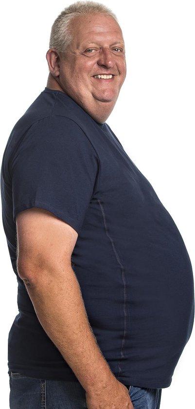 3xl 2pack T-shirt Heren Ronde-hals Blauw | Grote Maten Ronde Hals Buikmaat...