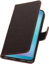 Pull Up Bookstyle voor Samsung Galaxy A6s Mocca