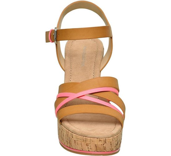 Star Collection Dames Bruine sandalette sleehak - Maat 38 Jhtzugec