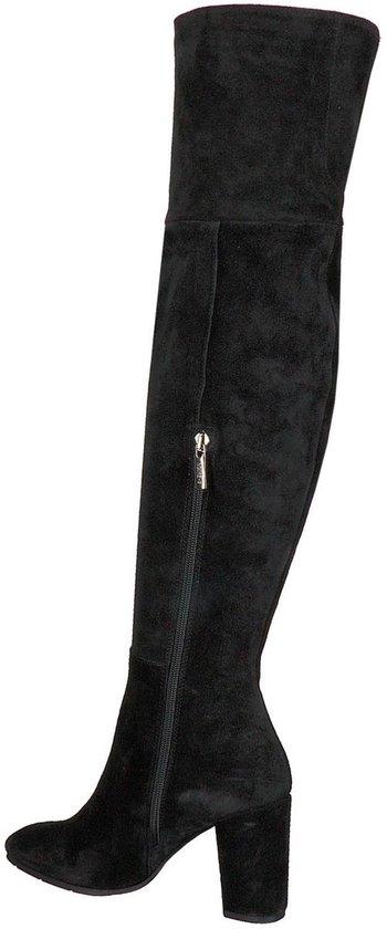 Zwarte NOTRE V Overknee laarzen AH98 | Omoda
