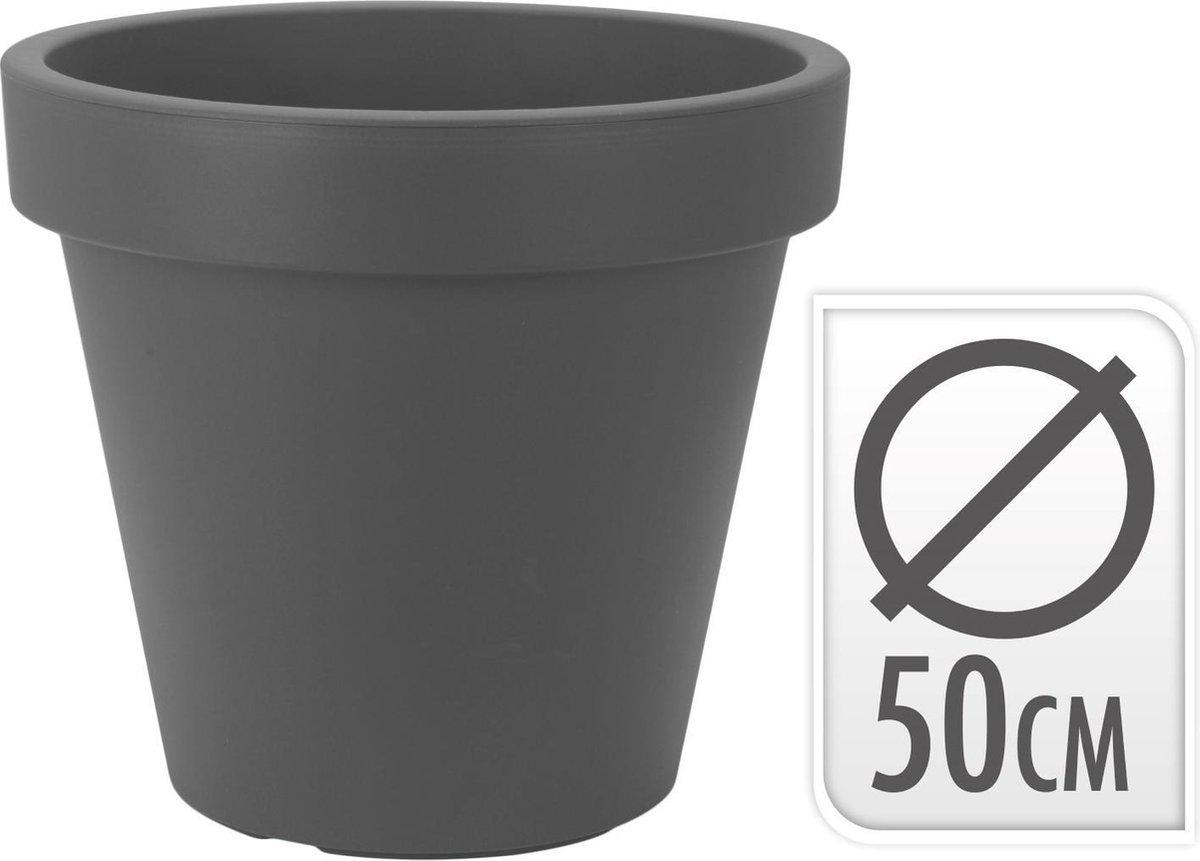 Kunststof Bloempot antraciet  50 cm - Hoogte 42 cm