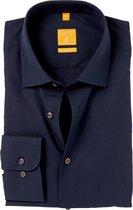 Redmond Modern Fit overhemd - nacht blauw - Strijkvriendelijk - Boordmaat: 37/38