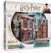 Wrebbit 3D Puzzel - Harry Potter Diagon Alley - 450 stukjes