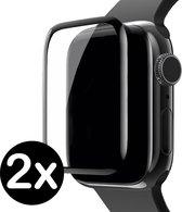 Screenprotector Voor Apple Watch 3 Full Cover 3D Glas (42 mm) - 2 PACK