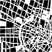 "Template 12x12"" 30x30cm city grid"