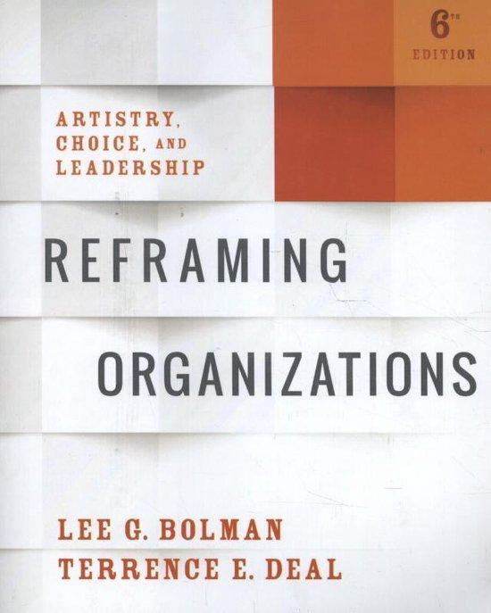 Boek cover Reframing Organizations van Lee G. Bolman (Paperback)