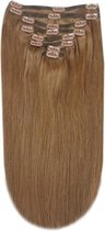 Remy Human Hair extensions Double Weft straight 15 - bruin 6#