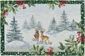 Sander placemat winter scenery