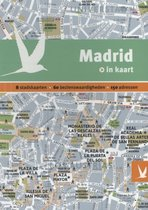 Madrid in kaart. 8 stadskaarten, 60 bezienswaardigheden, 150 adressen