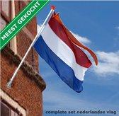 Nederlandse vlag met stok, wimpel en houder | Complete set