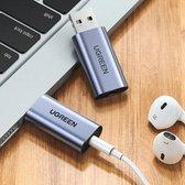 USB 2.0 naar 3.5mm Audio Adapter - OMTP/CTIA - Externe geluidskaart - Plug & play - Audio 3.5MM jack