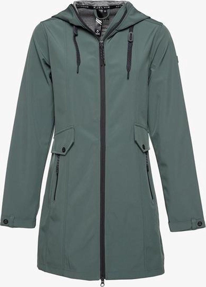 Kjelvik dames softshell jas waterafstotend - Groen - Maat XL - Winddicht - Ademend materiaal