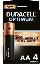 Duracell Optimum Alkaline AA batterijen - 4 stuks