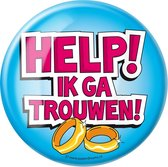 Paperdreams - Button XL - Help ik ga trouwen