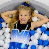 Sparkle&Dream Turnpakje / Gympakje Mila Blauw - CLA | maat 140 - 146 - voor turnen en gymnastiek