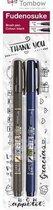 Tombow Brush pen Fudenosuke blister zwart 2 st - zacht, hard 19-WS-BHS-2P