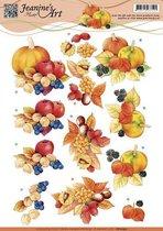 3D Knipvel - Jeanines Art - Herfst Vruchten