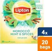 Lipton - Kruiden Infusie Morocco Mint - 4x 20 zakjes