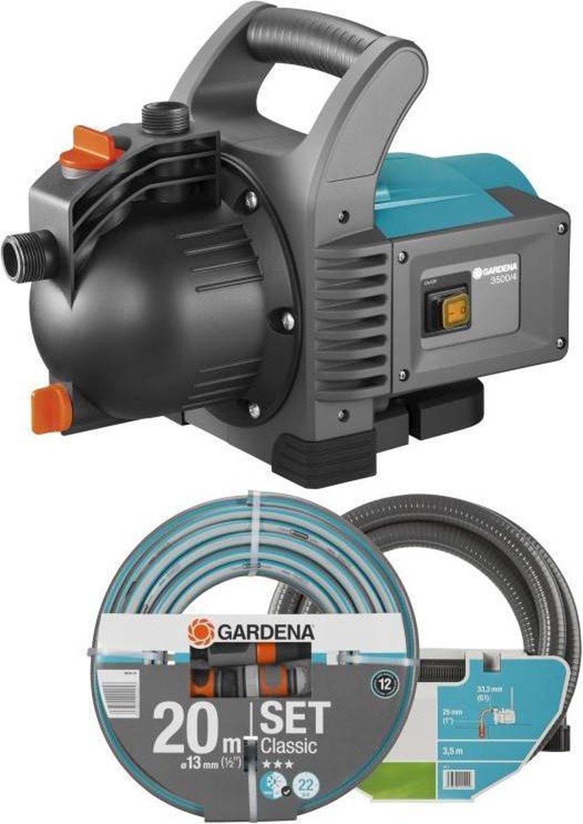 GARDENA Classic Besproeiingspomp 3500/4 Set Waterpomp - 800W - 3600 l/u - incl. accessoires