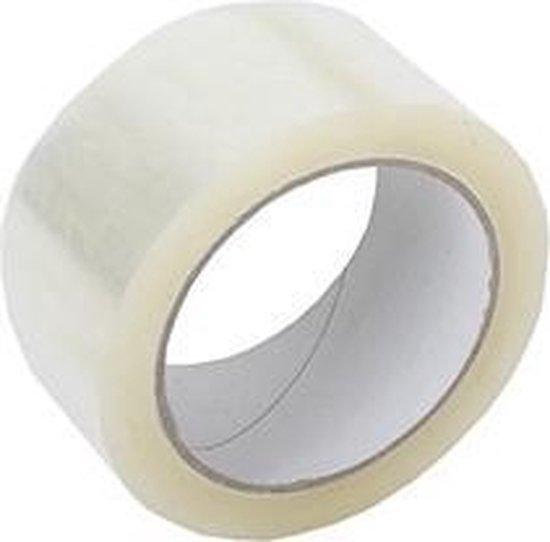 Verpakkingstape - PP Acryl - Transparant - 1 pakket met 6 rollen